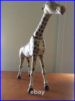 Antique Zoo Schoenhut Circus Giraffe Toy painted eyes