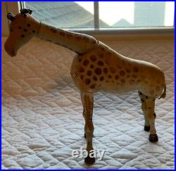 Antique Zoo Schoenhut Giraffe Humpty Dumpty Circus Jointed Toy PAINTED eyes Tail