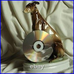 Antique Zsolnay Porcelain Greyhound Dog Pet Hunter Animal Hungary Handpainted
