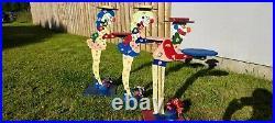 Antique/vintage Wooden Puppet Show Circus Fair Clown Theatre stands handmade