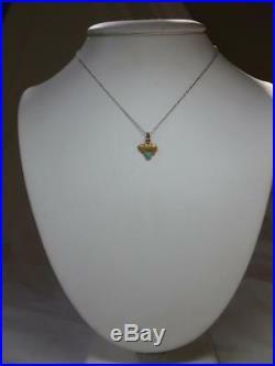 Bear Turquoise Pendant Circus 14K Edwardian Belle Epoque Antique c1880 Necklace
