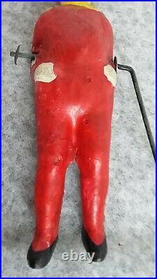 CIRCUS Balancing Acrobat Tumbling Clown Pierrot Composite Doll Metal Toy Antique