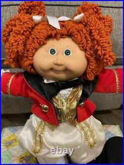 Cabbage Patch Kid Circus-Red Popcorn Hair, Green Eyes, HM #15, Factory KT, 1986