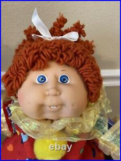 Cabbage Patch Kids Circus Clown Girl, Popcorn Red Pony, Blue Eyes, HM 10, P, 1986