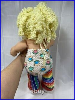 Cabbage Patch Original Vintage Circus Clown Doll Blond Hair Green Eyes RARE 80s