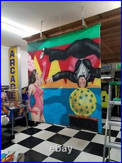 Circus Banner wall art -HUGE 9' x 8' One of a kind custom for museum -collector
