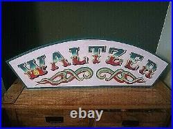 Circus funfair wooden waltzer sign