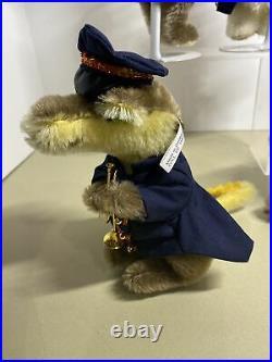 Complete Set/5 STEIFF CIRCUS ANIMAL BAND Bear Dog Cat Lion Crocodile
