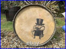 Dr Strange Painting On Antique Drum Circus Curio Macabre Bizarre Interior Design