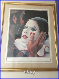Emmett Kelly Helping Hand Circus Collection signed Leighton Jones A/P 33X39