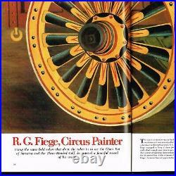 Folk Art Primitive Circus Painting 1932 Cole Bros Circus Americana Signed