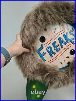 Freaks Show Creature Sign vintage style sideshow circus Halloween wooden