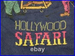 Iceberg Casual Pullover Hollywood Safari Circus Lion Domteur Blue Gr L Tip Top