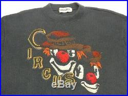 Iceberg Stricki Vintage Pullover Circus Clown Joker Casual Size M Tip Top