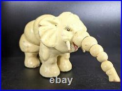 Jumboy Twistums Circus Elephant 1920's Antique Wood Jointed Atascadero CA Toy