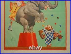 Lawson Wood (1944) Ringling Bros Barnum & Bailey Circus Lg Litho Color Poster