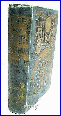 Life Of P. T. Barnum Hardcover Antique Illustrated Circus Showman