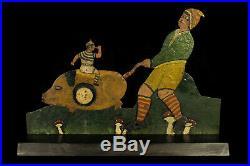 Lovely French antique shooting target game, folk art fairground c. 1900 / Circus