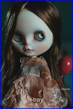 NBL blythe doll custom Vintage Circus Ghost Girl