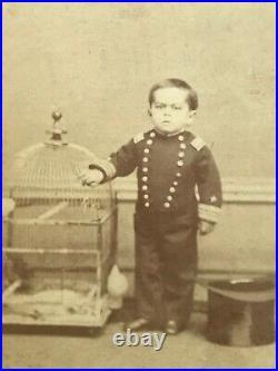 ORIGINAL 1800's Admiral Dot CDV Vintage Carnival San Francisco Antique Circus