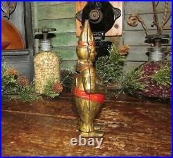 Original Antique Vtg Williams Cast Iron 1908 Gold Circus Clown Penny Still Bank