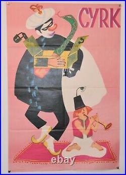 Original Polish Vintage Circus Poster CYRK Fakir 26 x 38