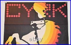 Original Polish Vintage Circus Poster CYRK Horse 1970