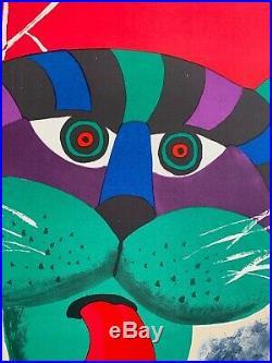 Original Vintage Polish Circus Poster CYRK 1971