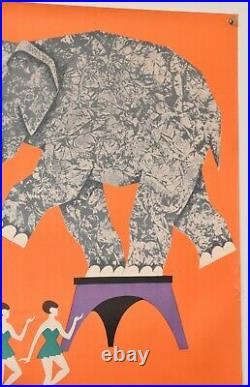 Original Vintage Russian Soviet Circus Poster (23 x 34)
