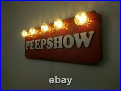 PEEPSHOW Circus Vintage Style LEDS 240v Fairground Circus Soho Sexy Original