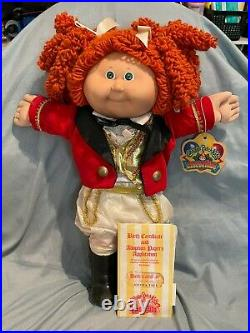 Popcorn CPK Girl Circus Ring Leader Cabbage Patch Kid 1986 Red Haired Green Eyes