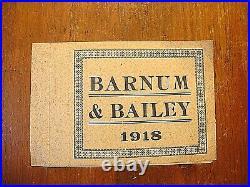 RARE Antique 1918 Barnum & Bailey Circus Complete Unused Ticket