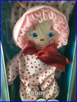 RARE NOS NRFB Vintage Picka-Berry Circus Cranberry Saucy Rag Doll