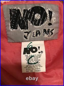 RARE Vintage No! Jeans Women's Pink Circus Cardigan Sweater OSFM