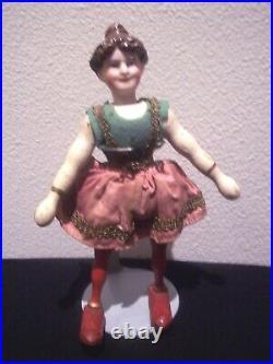 RAREWonderful Bisque Head Schoenhut Humpty Dumpty Circus Girl Performer