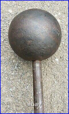 RaRe GLOBE BARBELL 33lb StrongMan BODYBUILDING York Circus VTG Weights Antique