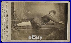 Rare Antique Sideshow Circus Photo Victorian Strong Woman Mme Lagourio Michigan