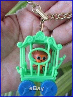 Rare Vintage Liddle Kiddle Zoolery Little Brawny Bear Circus Wagon Cage Bracelet