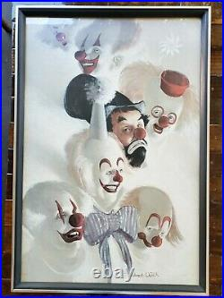 Robert Owen Sign Clowns Abound The 7 Faces of a ClownArt Print Framed In Glass