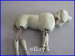 Schoenhut Humpty Dumpty Circus Poodle White Dog Antique Vintage