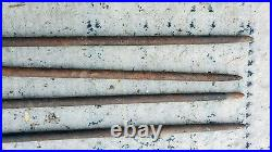 Set 4 39 Cast Iron Spikes Nails Stakes Primitive Tether Barn Tent Circus Horse