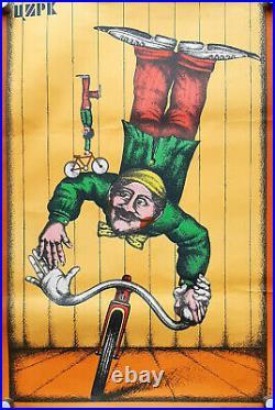 Soviet Circus Ussr Ministry Of Culture Original Russian Vintage Retro Art Poster