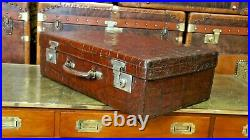 Stunning Antique Crocodile Case By Drew & Sons Piccadilly Circus London