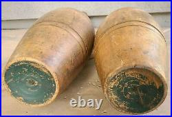 Super large heavy antique Kehoe wooden Indian swinging clubs circus strongman