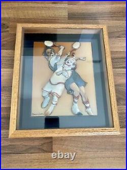 Thomas Emery SIGNED 3-D Art Original 1st Clowns by Robert Owen 1986 Framed