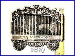 Tiffany & Co Bob Markworth Circus Star III Sterling Silver 1978 Belt Buckle 138g