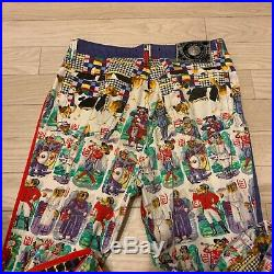 VERSACE JEANS COUTURE VINTAGE'96 DOGS PRINTED Pants Bottoms PUPPY FOX CIRCUS