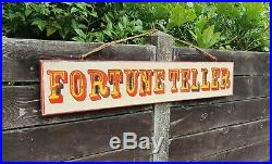 VINTAGE STYLE CIRCUS Fortune Teller Authentic Look Sign / Picture. Hand painted