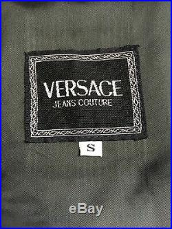 Versace J Couture Vintage'96 Dogs Printed Blouson Jacket Puppy Fox Circus Italy