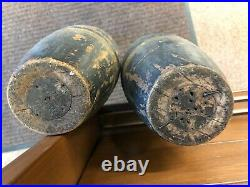 Very Rare 24 Antique Pair Indian Exercise Clubs Juggling Pins Circus